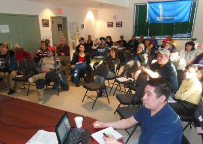 Meeting with Paulatuk residents